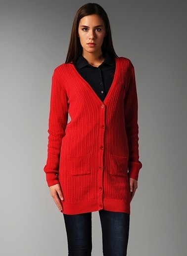 U.S. Polo Assn. Hırka Kırmızı